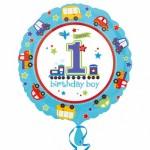 Anagram 18 Inch All Aboard Birthday 1st Birthday Boy