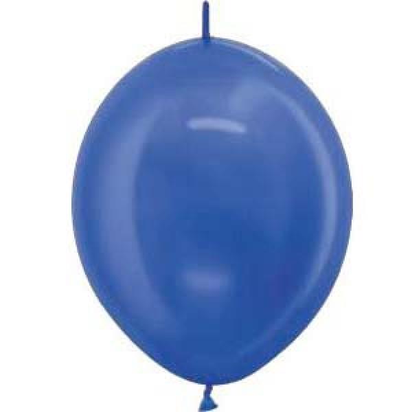 "Sempertex 12"" Inch Link-O-Loon Pearl Blue Balloon 540 ~ 100pcs"