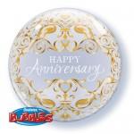 Qualatex 22 Inch Anniversary Classic Bubble Balloon