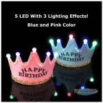 Happy Birthday LED Lighting Crown Party Hat