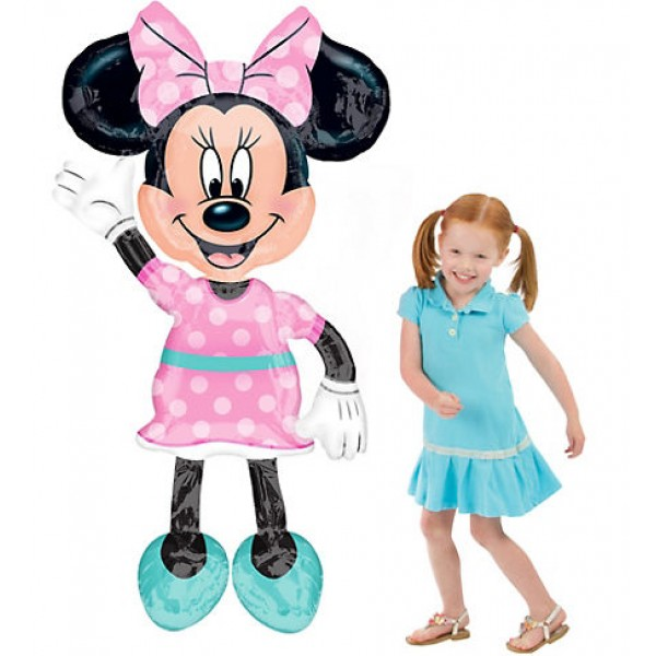 Character Balloons - Anagram 54 Inch Minnie Mouse Airwalker