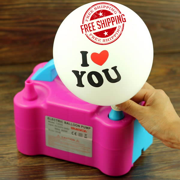 Inflator & Hand Pump - Electric Balloon Pump With 2 nozzles ~ Pink
