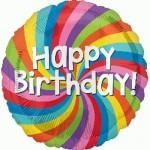 Anagram 18 Inch Happy Birthday Rainbow Wheel