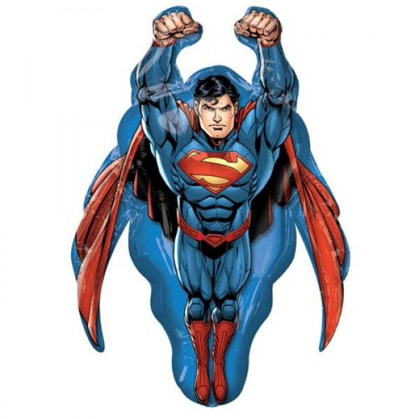 Character Balloons - Anagram 34 inch Superman SuperShape Foil Balloon