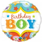Qualatex 18 Inch Birthday Boy Circus Stars
