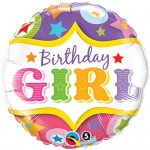 Qualatex 18 Inch Birthday Girl Circus Stars
