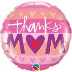 Qualatex 18 Inch Thanks M(HEART)M Foil Balloon