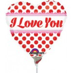 Anagram 9 inch I Love You Red Dots