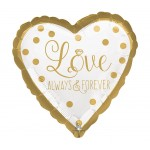 Anagram 17 Inch Sparkling Gold Wedding