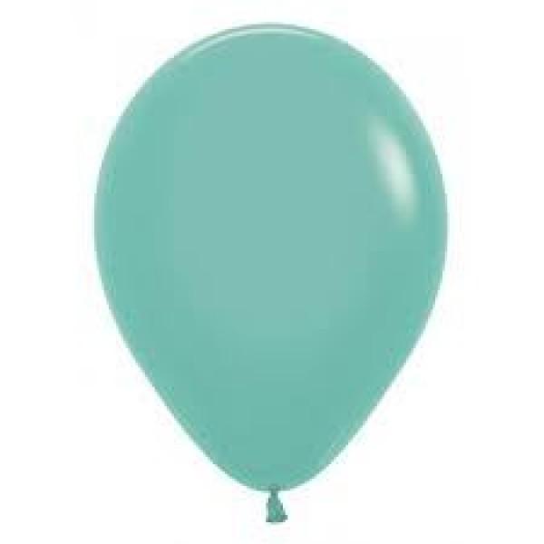 12 Inch Round Balloons - Sempertex 12 Inch Solid Aquamarine Round Balloon 037 ~ 100pcs