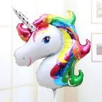Mytex 35 Inch Rainbow Unicorn Foil Balloons ~ 2pcs