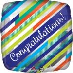 Anagram 18 Inch Congrats Stripes Balloon