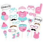 Mytex Baby Girl Party Photo Booth Props Kits ~ 25pcs
