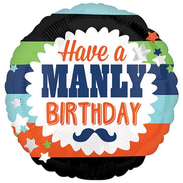 Birthday Balloons - Anagram 17 Inch Manly Birthday