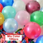 Mix Color 10 & 12 Inch Solid Color Latex Balloon ~ 100pcs