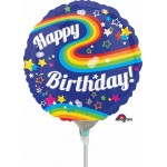 Anagram 9 Inch HBD Colorful Rainbow Fun