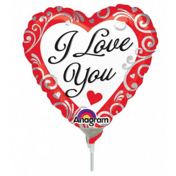 Birthday Balloons - Anagram 9 Inch Fancy Love
