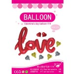 38 Inch Love Script Wording With Hearts Package ~ 9pcs