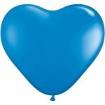 "Mytex 12"" Inch Heart Shape Dark Blue Plain Balloons ~ 50pcs"