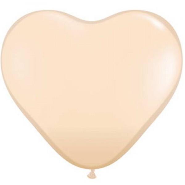 Heart Shape Balloons - Mytex 12 Inch Heart Shape Blush Plain Balloons ~ 50pcs