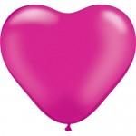 """Mytex 12"""" Inch Heart Shape Magenta Plain Balloons ~ 50pcs"""