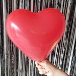 12 Heart Shape Red Plain Balloons ~ 50pcs Thailand OEM