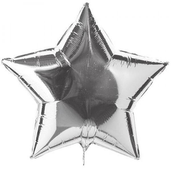 Stars Shape Balloons - Mytex 18 Inch Star Silver ~ 5pcs