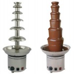 5-Tier Stainless Steel Commercial Chocolate Fountain