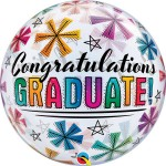 "Qualatex 22"" Inch Congratulations Graduate & Stars"