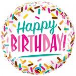 Qualatex 18 Inch Sprinkles Happy Birthday Foil Balloon