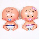 Mytex Mini Shape Baby With Pacifier Foil Balloon ~ 5pcs