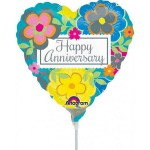 Anagram 9 Inch Bright Floral Anniversary