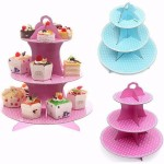 3 Tier Wedding Birthday Cupcake Paper Stand