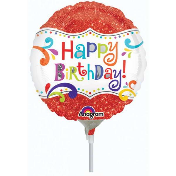 Birthday Balloons - Anagram 9 Inch HBD Sparkle