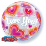 "Qualatex 22"" Inch Love You Doodle Hearts"