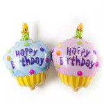 Mytex Mini Shape Birthday CupCake Foil Balloon ~ 5pcs