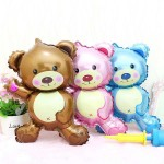 Mytex Mini Shape Teddy Bear Foil Balloon ~ 5pcs