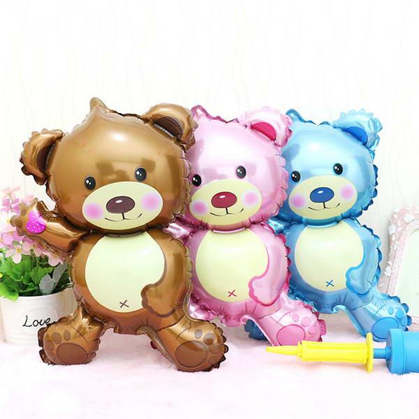 Wedding - Mytex Mini Shape Teddy Bear Foil Balloon ~ 5pcs