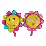 Mytex Mini Shape Sunflower Foil Balloon ~ 5pcs