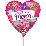 Anagram 9 Inch Love You Mom Flowers