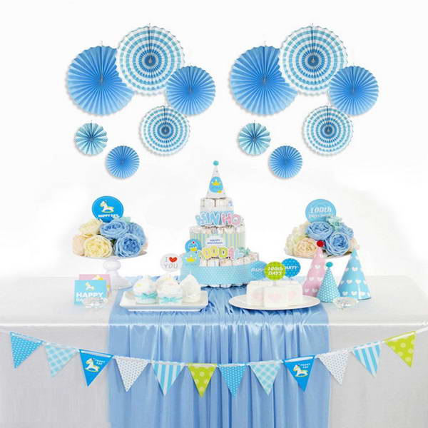 Decoration Item - Paper Fan Decoration Set For Party Events