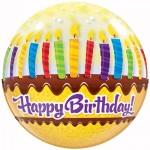 "Qualatex 22"" Inch Birthday Candles & Frosting"