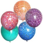 Colorful 18 Inch Peacock Balloons From Japan ~ 2 pcs