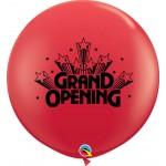 Qualatex 3ft Round Red Grand Opening Stars