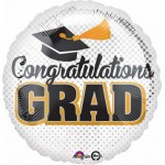 Anagram 18 Inch Chevron & Dots Graduation