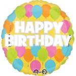 Anagram 18 Inch Standard Birthday Pastel Balloon