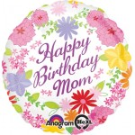 Anagram 17 inch Mom Pastel Flowers