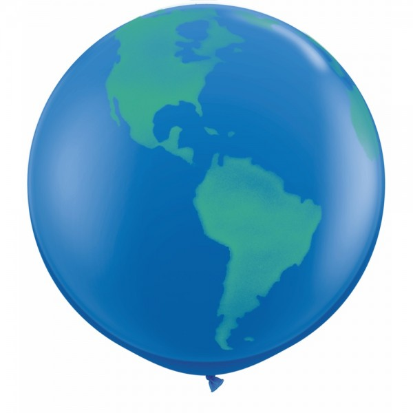 36 Inch 3FT Round Balloons - Qualatex 3ft Round Dark Blue Globe Balloon