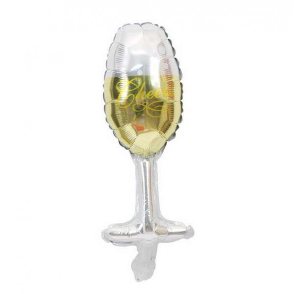 Wedding - Mytex Mini Shape Wine Glass Foil Balloon ~ 5pcs