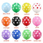 Polka Dots - 12 inch Regular Polka Dots Deco Latex Balloon ~ 50pcs
